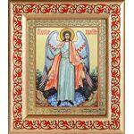 Ангел Хранитель, икона в рамке с узором 14,5*16,5 см - Иконы