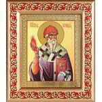 Святитель Спиридон Тримифунтский, икона в рамке с узором 14,5*16,5 см - Иконы