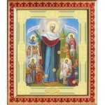 """Икона Божией Матери """"Всех скорбящих Радость"""" с грошиками, 25*21,5 см - Иконы"""