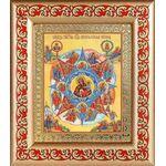 """Икона Божией Матери """"Неопалимая Купина"""", рамка с узором 14,5*16,5 см - Иконы"""