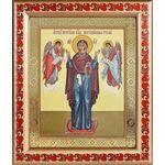 """Икона Божией Матери """"Нерушимая Стена"""", рамка с узором 19*22,5 см - Иконы"""