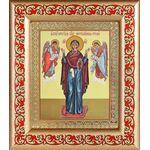 """Икона Божией Матери """"Нерушимая Стена"""", рамка с узором 14,5*16,5 см - Иконы"""
