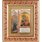 """Икона Божией Матери """"Нечаянная Радость"""", рамка с узором 14,5*16,5 см - Иконы"""