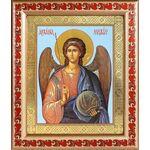 Михаил Архангел, Архистратиг, икона в рамке с узором 19*22,5 см - Иконы