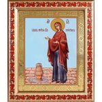 """Икона Божией Матери """"Геронтисса"""", рамка с узором 19*22,5 см - Иконы"""