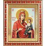 Иверская икона Божией Матери, рамка с узором 19*22,5 см - Иконы