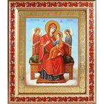 """Икона Божией Матери """"Всецарица"""", широкая рамка с узором 19*22,5 см - Иконы"""