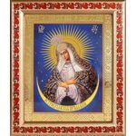 Икона Божией Матери Остробрамская Виленская, рамка с узором 22,5*19 см - Иконы