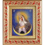 Икона Божией Матери Остробрамская Виленская, рамка узором 14,5*16,5 см - Иконы