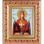 """Икона Божией Матери """"Неупиваемая Чаша"""", рамка с узором 14,5*16,5 см - Иконы"""