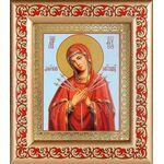 """Икона Божией Матери """"Умягчение злых сердец"""", рамка с узором 14,5*16,5 см - Иконы"""