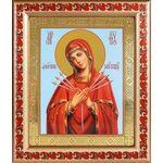 """Икона Божией Матери """"Умягчение злых сердец"""", рамка с узором 19*22,5 см - Иконы"""