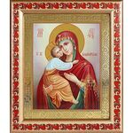 Владимирская икона Божией Матери, рамка с узором 19*22,5 см - Иконы