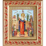 """Икона Божией Матери """"Всех скорбящих Радость"""" с грошиками, 14,5*16,5 см - Иконы"""