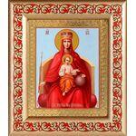"""Икона Божией Матери """"Державная"""", рамка с узором 14,5*16,5 см - Иконы"""