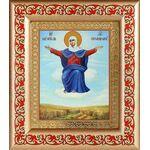 """Икона Божией Матери """"Спорительница хлебов"""", рамка с узором 14,5*16,5см - Иконы"""