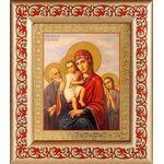 """Икона Божией Матери """"Трех Радостей"""", рамка с узором 14,5*16,5 см - Иконы"""