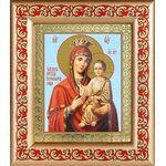 """Икона Божией Матери """"Скоропослушница"""", рамка с узором 14,5*16,5 см - Иконы"""
