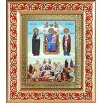"""Икона Божией Матери """"Экономисса"""", рамка с узором 14,5*16,5 см - Иконы"""
