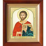Мученик Евгений Севастийский, икона в деревянном киоте 14,5*16,5 см - Иконы