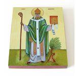Блаженный Августин Аврелий Иппонийский, икона на доске 13*16,5 см - Иконы