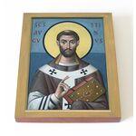 Блаженный Августин Аврелий Иппонийский, печать на доске 13*16,5 см - Иконы
