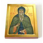 Преподобный Антоний Дымский, икона на доске 13*16,5 см - Иконы