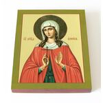 Мученица Анфиса Римская, икона на доске 13*16,5 см - Иконы