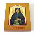Преподобная Афанасия Эгинская, игумения, икона на доске 13*16,5 см - Иконы
