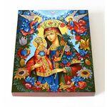 """Икона Божией Матери """"Благоуханный Цвет"""", печать на доске 13*16,5 см - Иконы"""