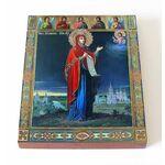 Боголюбская икона Божией Матери, печать на доске 13*16,5 см - Иконы