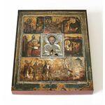 Великорецкая икона Николая Чудотворца, печать на доске 13*16,5 см - Иконы