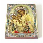 """Икона Божией Матери """"Взыграние Младенца"""", доска 13*16,5 см - Иконы"""