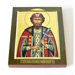 Благоверный князь Всеволод Новгородский, икона на доске 13*16,5 см - Иконы
