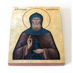 Преподобный Геннадий Важеозерский, икона на доске 13*16,5 см - Иконы
