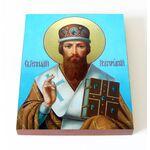 Святитель Геннадий Новгородский, икона на доске 13*16,5 см - Иконы