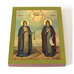 Преподобные Геннадий и Никифор Важеозерские, икона на доске 13*16,5 см - Иконы