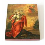 Праведная Глафира Амасийская, дева, печать на доске 13*16,5 см - Иконы