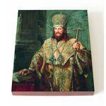 Святитель Димитрий Ростовский, митрополит, на доске 13*16,5 см - Иконы