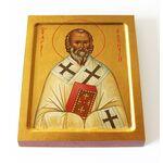 Святитель Евтихий Константинопольский, икона на доске 13*16,5 см - Иконы
