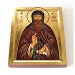 Преподобный Евфимий Суздальский, икона на доске 13*16,5 см - Иконы
