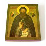 Преподобный Евфимий Суздальский, печать на доске 13*16,5 см - Иконы