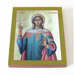 Великомученица Евфимия Всехвальная, икона на доске 13*16,5 см - Иконы