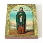 Преподобная Елисавета Константинопольская, икона на доске 13*16,5 см - Иконы