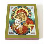 Жировицкая икона Божией Матери, печать на доске 13*16,5 см - Иконы