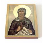 Преподобный Иоанн Дамаскин, печать на доске 13*16,5 см - Иконы