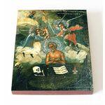 Преподобный Иоанн Печерский, Многострадальный, доска 13*16,5 см - Иконы