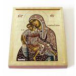 """Киккская икона Божией Матери """"Милостивая"""", печать на доске 13*16,5 см - Иконы"""