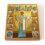 Священномученик Климент Папа Римский, печать на доске 13*16,5 см - Иконы