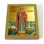 Равноапостольный князь Владимир, ростовая икона на доске 13*16,5 см - Иконы